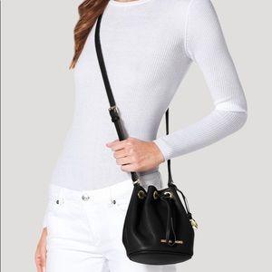 Michael Kors black bucket bag